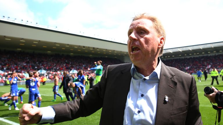 Harry Redknapp guided Birmingham away from relegation on the final day of the Sky Bet Championship season