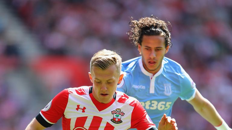 James Ward-Prowse in action at St Mary's