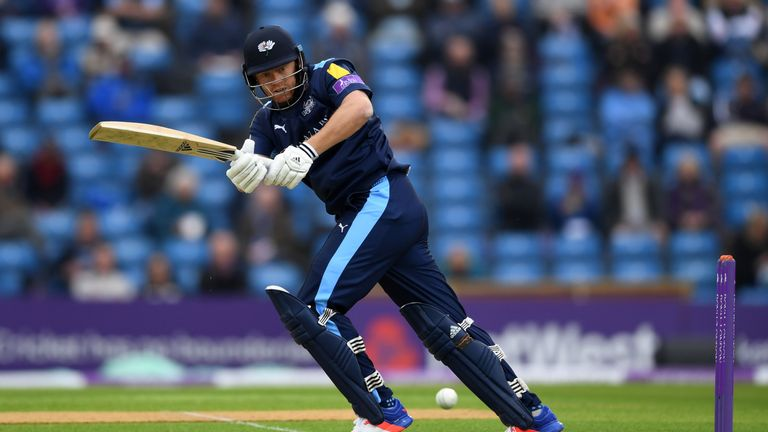 Bairstow scored 174 during the recent Royal London One-Day Cup match between Yorkshire and Lancashire