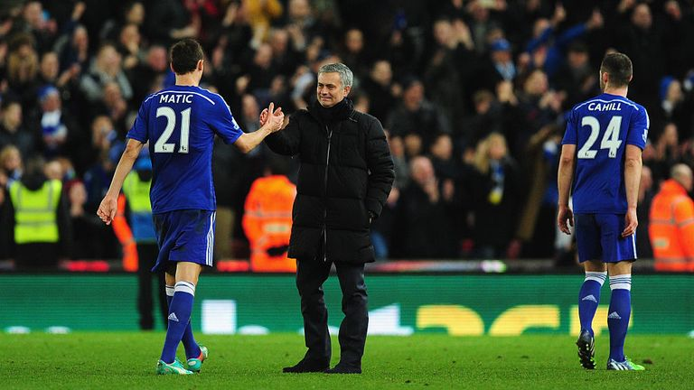 Matic played under Mourinho at Chelsea before joining him at Old Trafford