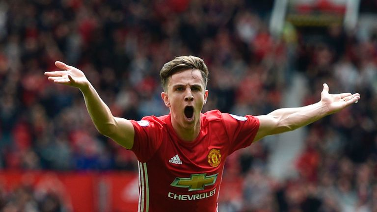 Josh Harrop scored against Crystal Palace on his Manchester United first-team debut