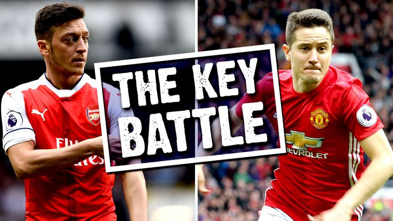 Mesut Ozil and Ander Herrera go head to head this weekend