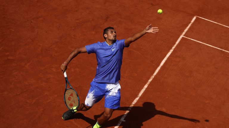 Kyrgios hasn't played at the French Open since 2017