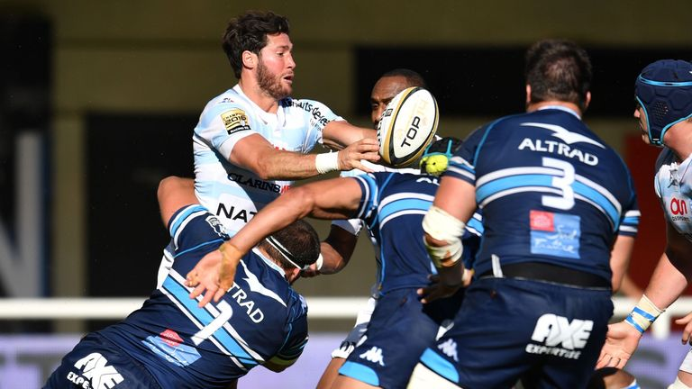 Maxime Machenaud helped Racing to an impressive win at Montpellier