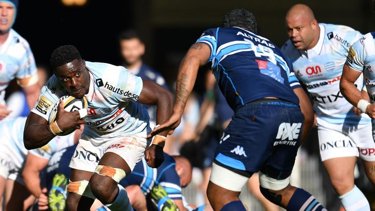 Yannick Nyanga helped Racing book a Top 14 semi-final date with Clermont