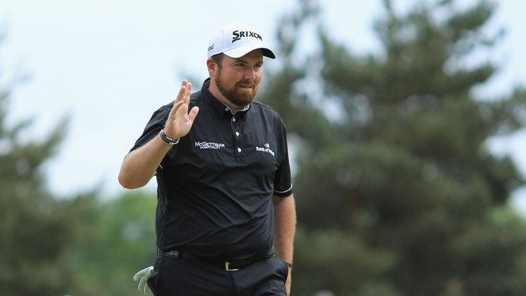Shane Lowry was in the hunt until he drove out-of-bounds at the 15th