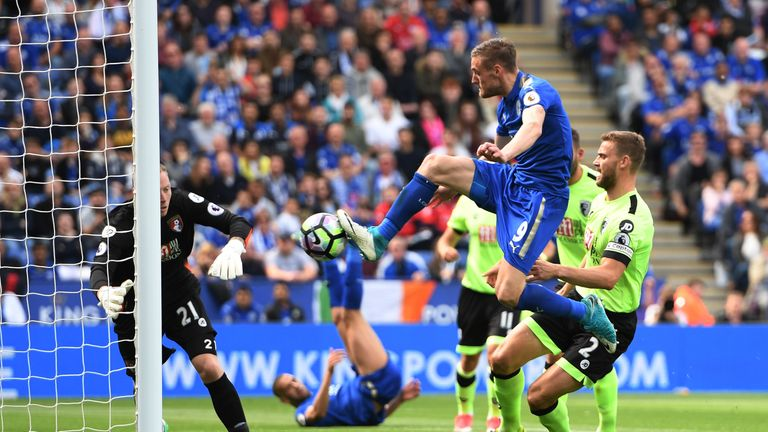 Jamie Vardy's equaliser earned Leicester City a point against Bournemouth