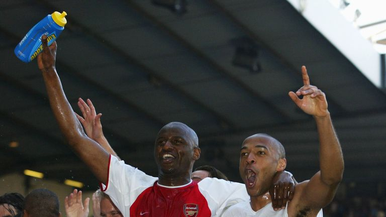 Arsenal won the Premier League title at White Hart Lane in April 2004 after a 2-2 draw