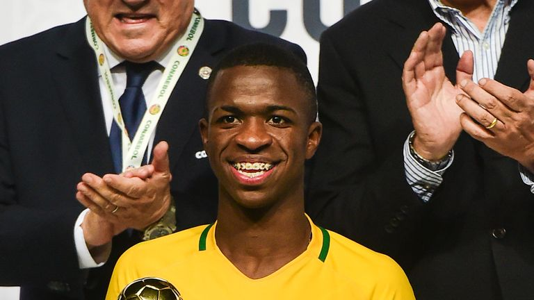 Vinicius was named best player at the South American U17 Championship