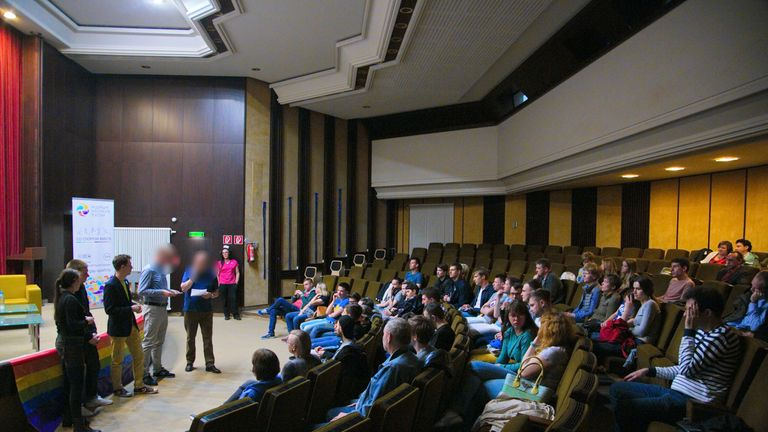 Those attending the screening and Q&A only learned of the location at short notice