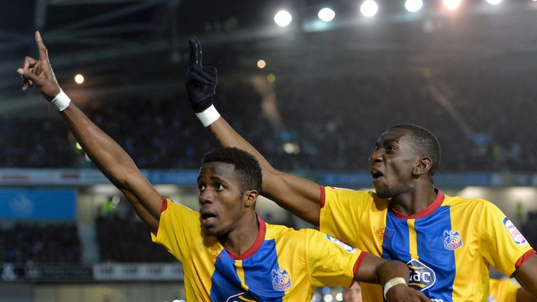 Wilfried Zaha (L) and Yannick Bolasie helped Palace reach the Championship play-off final