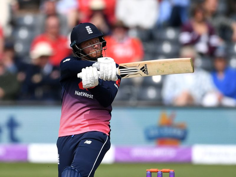 Jonny Bairstow went big at the end of the innings to steer England to a sizeable total
