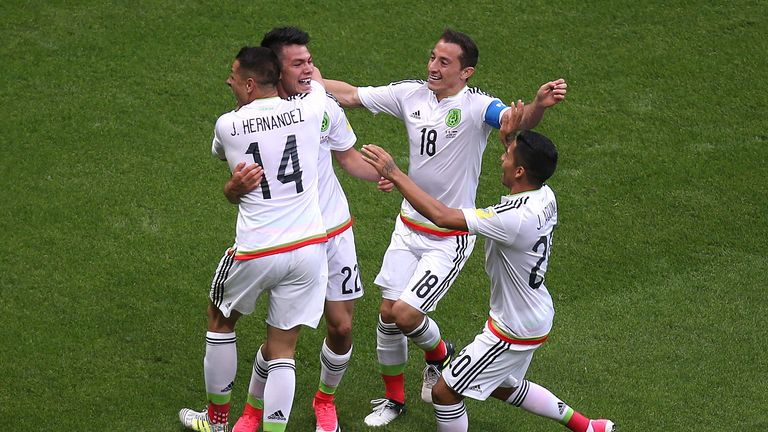 Mexico's Hirving Lozano (second left) is highly rated