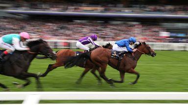 Benbatl coming home to win the Hampton Court Stakes last summer