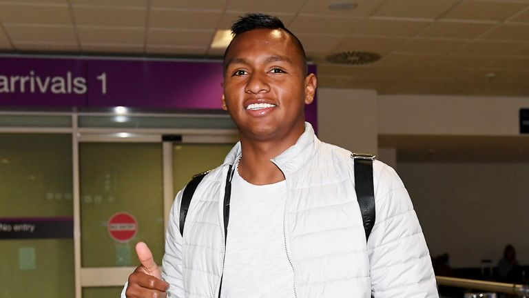 Alfredo Morelos has joined Rangers on a three-yeal deal