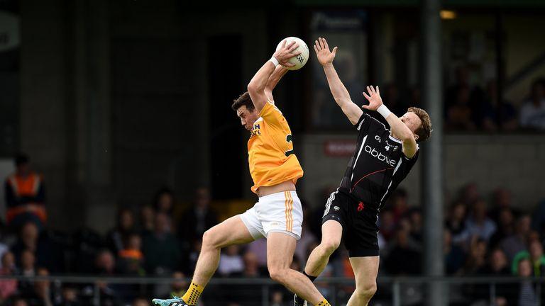 Conor Murray of Antrim in action against Sligo's Charlie Harrison