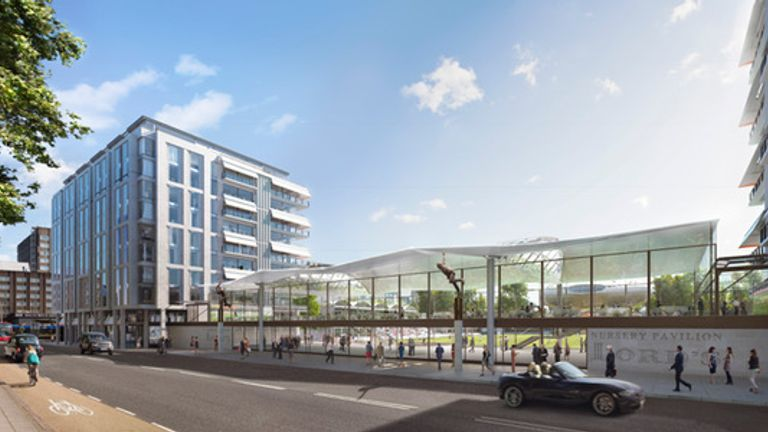 An artist's impression of how Lord's would look under plans drawn up by David Morley Architects for the Rifkind proposal