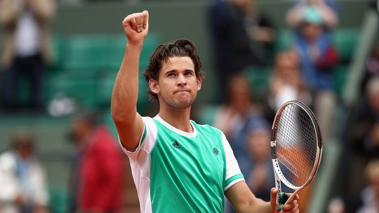 Thiem also reached the semi-finals of the French Open this year
