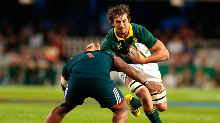 Second-row Etzebeth captained the side for the first time after Warren Whiteley's injury withdrawal