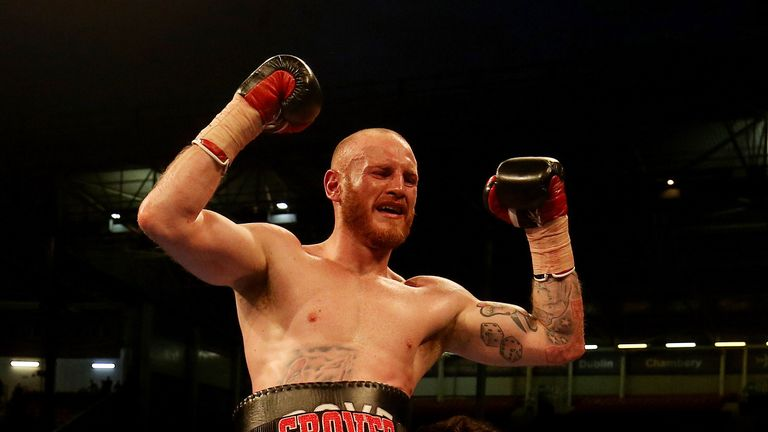 George Groves beat Jamie Cox with a body shot in the fourth round