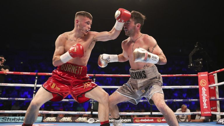 Burnett continued to punish Haskins with his accurate punches
