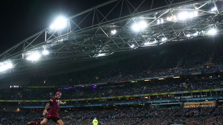 Johnathan Thurston kicked the winning conversion in game two of State of Origin