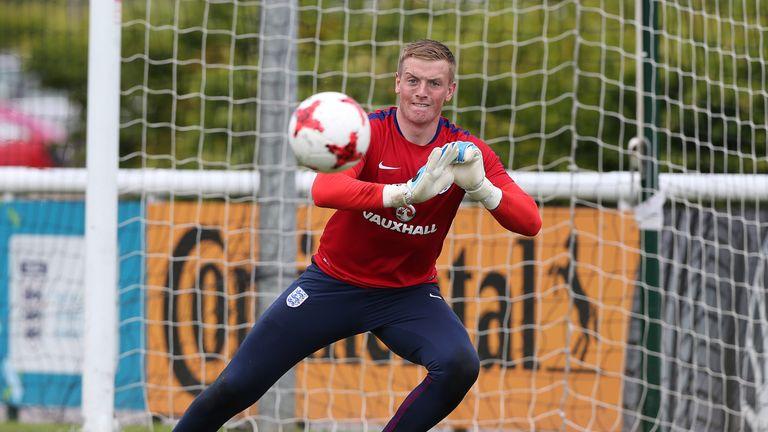 Pickford is currently on England U21 duty
