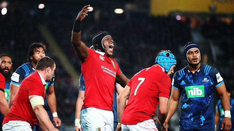 Maro Itoje faced criticism for his reaction to a penalty late in the clash with the Blues