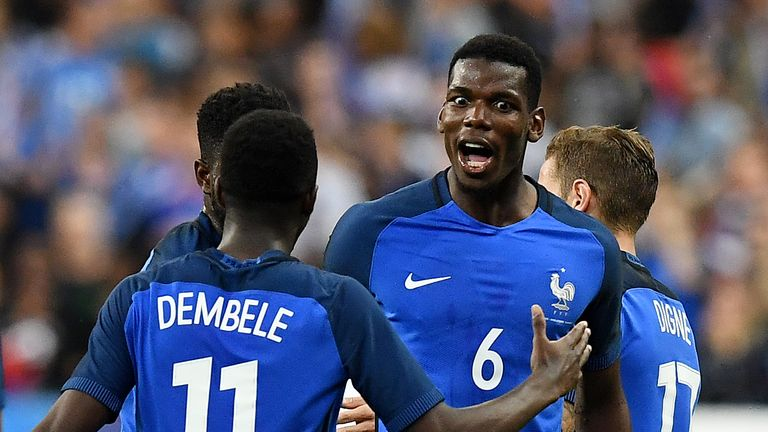 Paul Pogba is a key figure for France and Manchester United