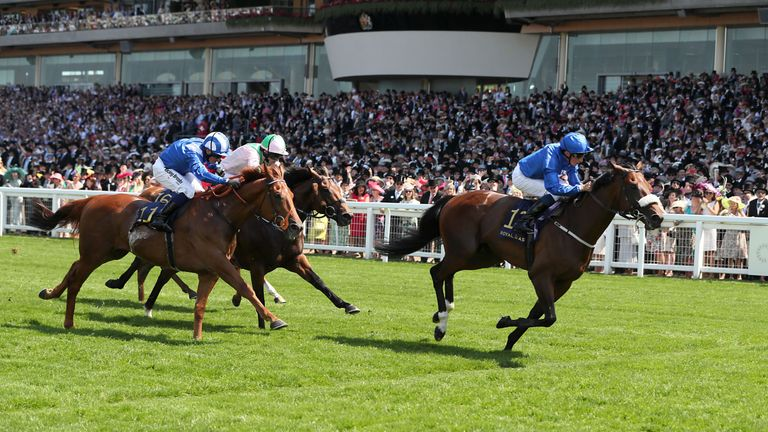 Ribchester (right) on his way to winning the Queen Anne Stakes