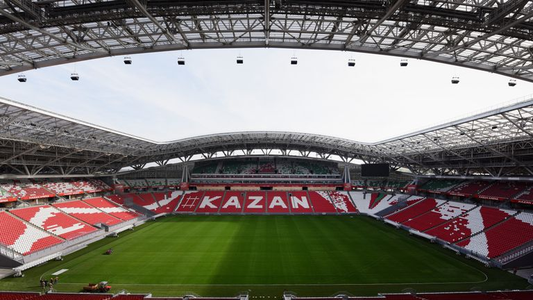 At just over 45,000, it remains to be seen if the Kazan Arena will be filled