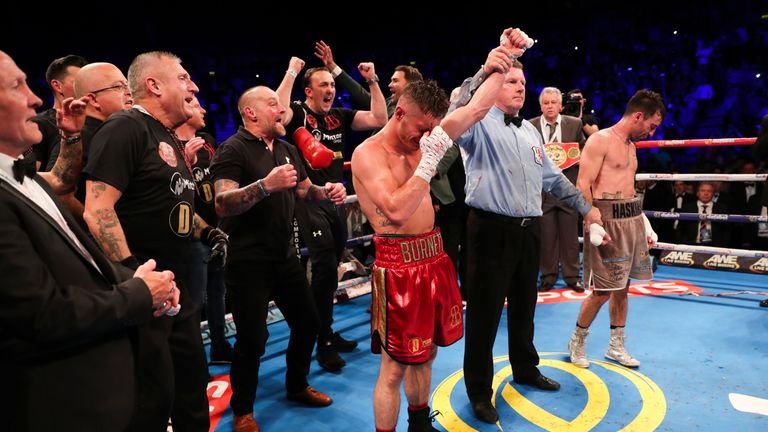 Ryan Burnett twice floored Lee Haskins on his way to taking the IBF bantamweight title