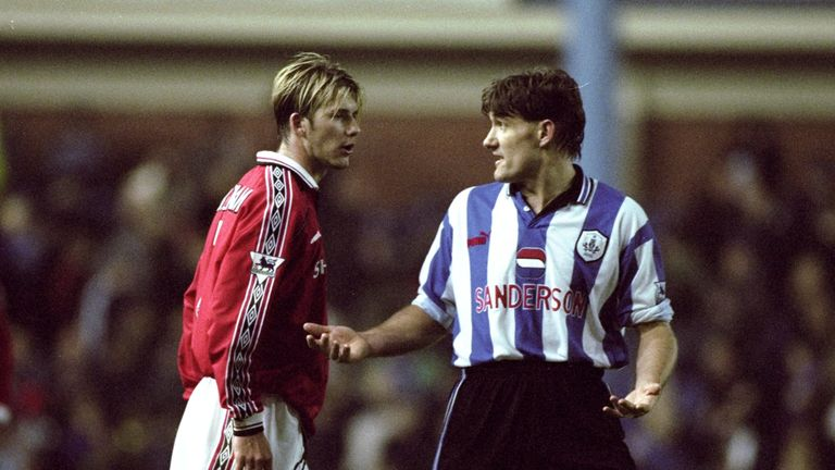 Sheffield Wednesday shocked eventual treble winners Manchester United in 1998