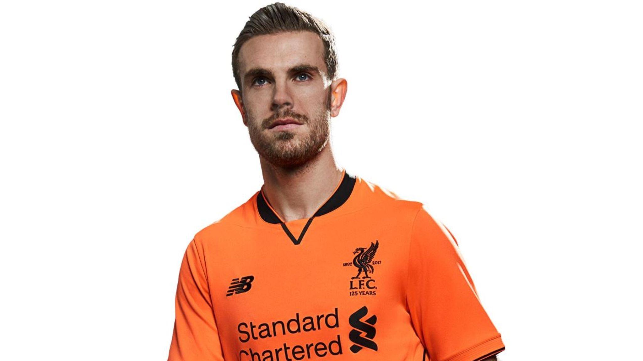 96cfddf9664 Liverpool release bright orange third kit for 2017/18 | Football News | Sky  Sports
