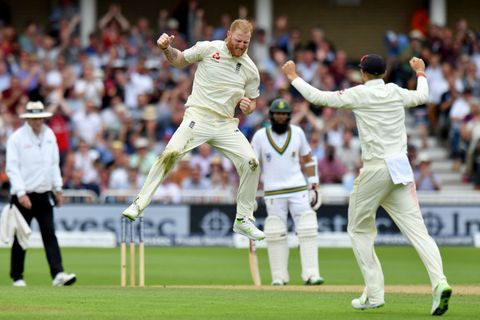 Ben Stokes celebrates a wicket at Trent Bridge