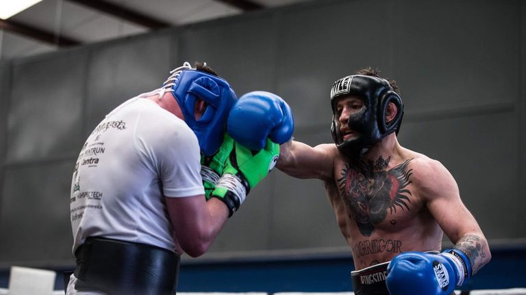 Conor McGregor is back in training - pic @TheNotoriousMMA Twitter