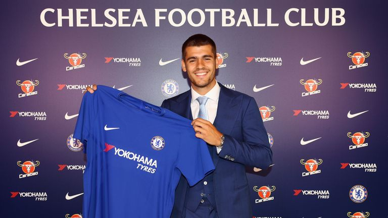 Alvaro Morata has completed his club-record move to Chelsea