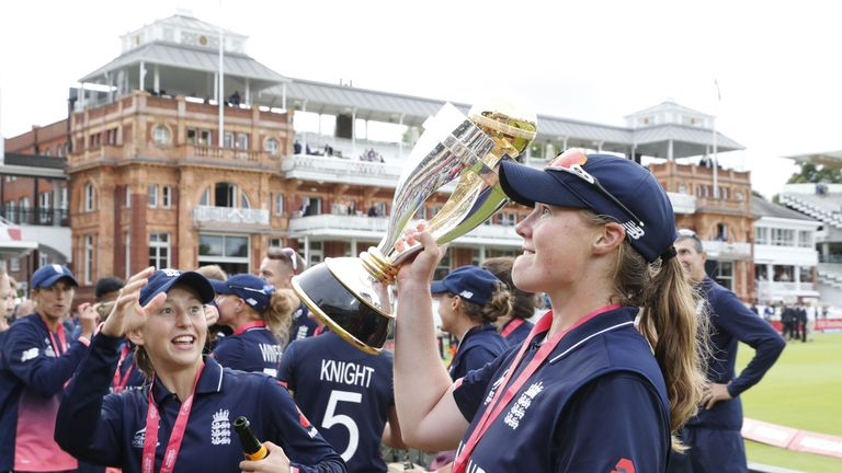 England won the World Cup in July after beating India by nine runs