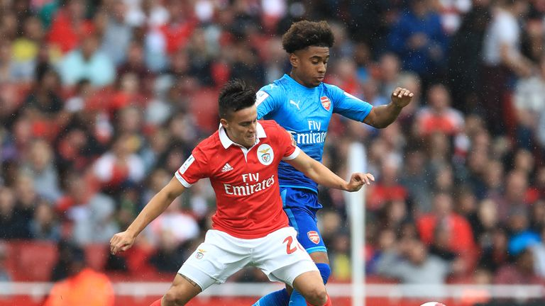 Arsenal youngster Reiss Nelson impressed against Benfica on Saturday