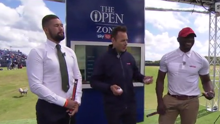 Tony Bellew and Johnny Nelson were among the sporting stars to visit the Open Zone at The Open