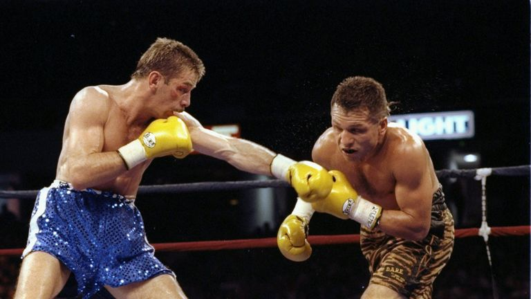 Tony Lopez (L) was one of Brian Mitchell's last opponents