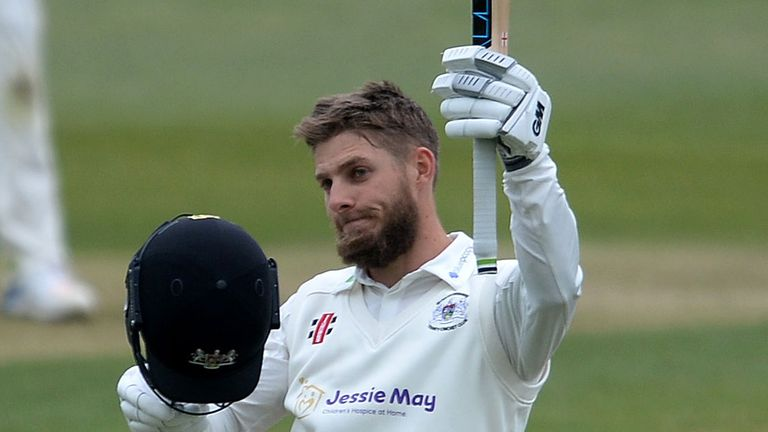 Gloucestershire's Chris Dent struck 176 as his side topped 500 at Grace Road