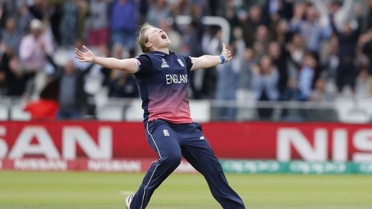 Anya Shrubsole's second career five-wicket haul lead England to World Cup victory over India at Lord's in 2017