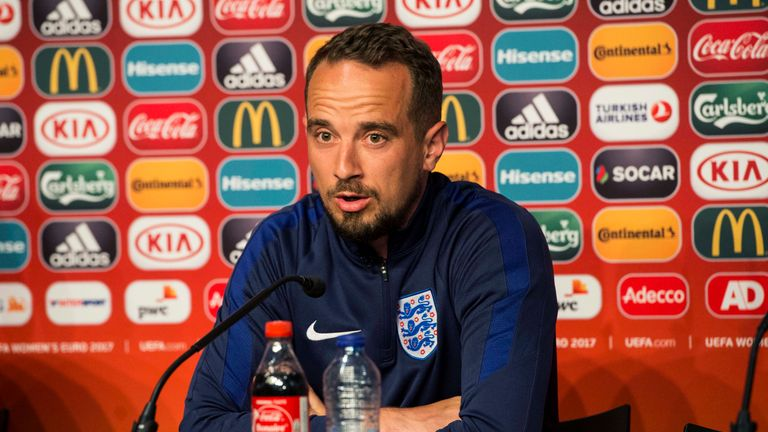 Mark Sampson will be unable to call upon Scott for the semi-final