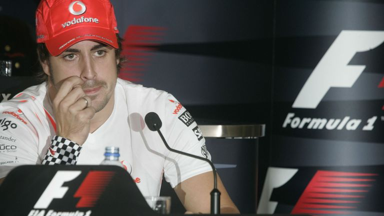 What a difference a year makes: Alonso was a free agent at the end of 2007 as McLaren ripped up their three-year contract