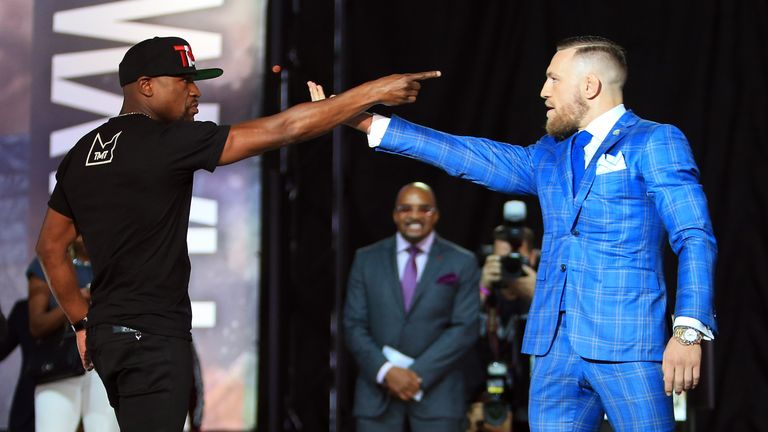 Floyd Mayweather Jr. and Conor McGregor face off in Toronto