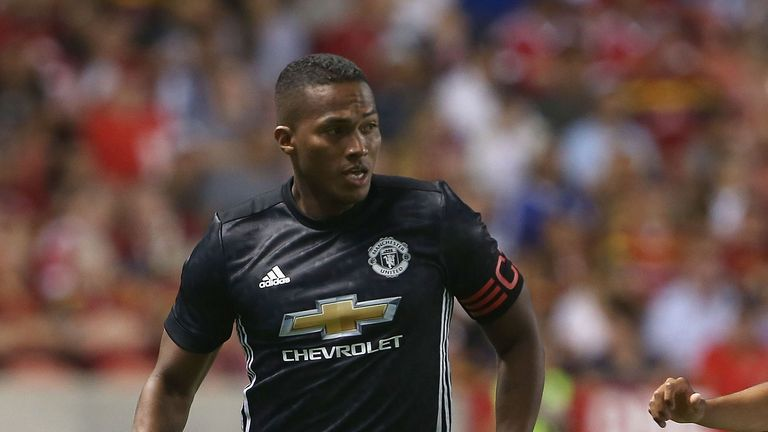 Antonio Valencia was sent off in Manchester United's 2-1 win over Real Salt Lake in Sandy, Utah