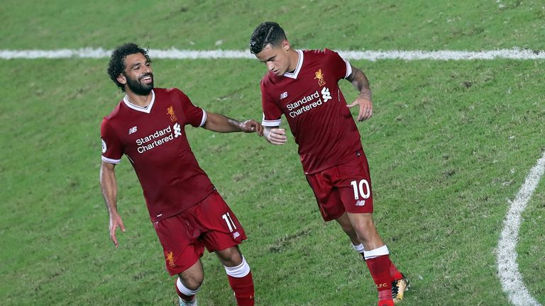 Philippe Coutinho says he wants to make the most of his time playing with Mohamed Salah, following the Egyptian's arrival at Anfield