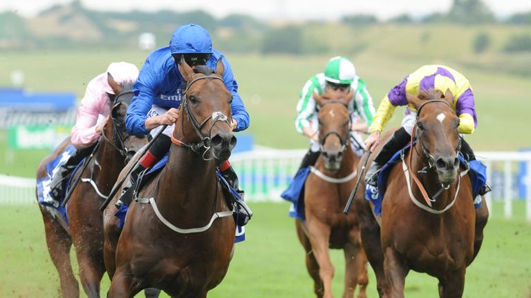 Harry Angel wins the Darley July Cup