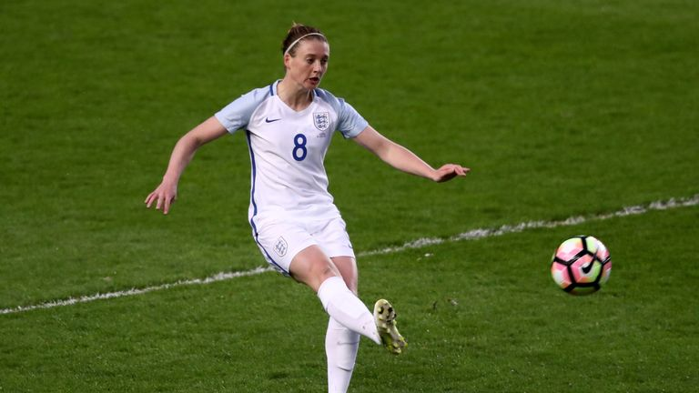 Moore made her international debut for England back in 2012